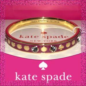 Kate Spade Sweetheart Pink Spot the Spade Bracelet